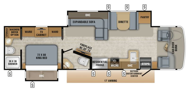 Floorplan for 2019 JAYCO SENECA 37K