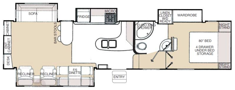 Floorplan for 2008 GLENDALE TITANIUM 34RE39