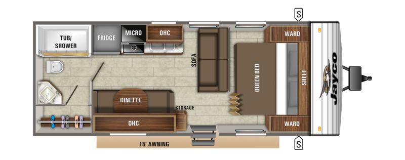 Floorplan for 2019 JAYCO JAY FLIGHT SLX 8 232RB