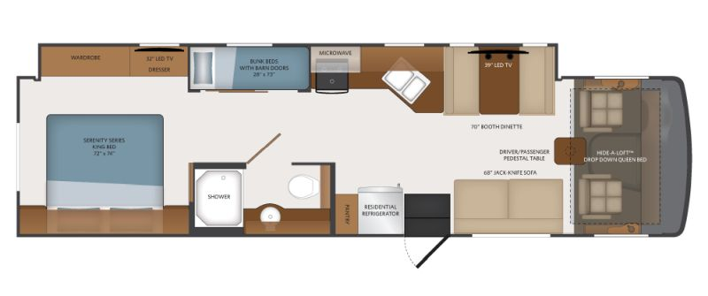 Floorplan for 2019 FLEETWOOD FLAIR 34J