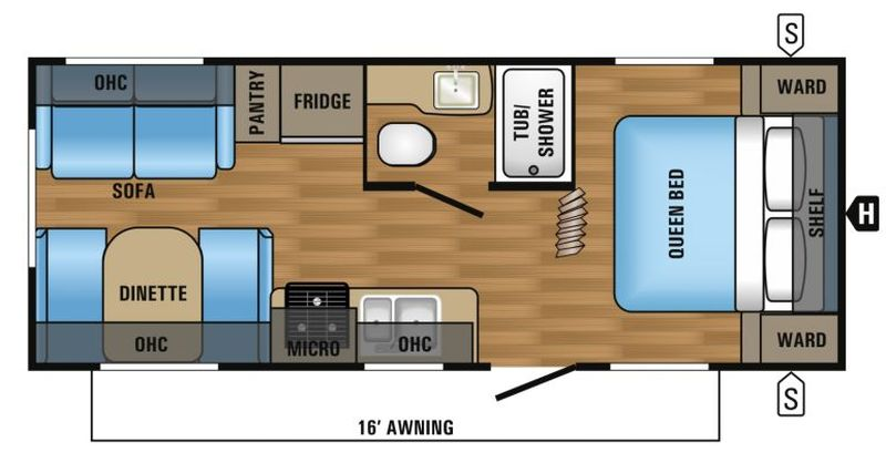 Floorplan for 2017 JAYCO JAY FLIGHT SLX 212QBW