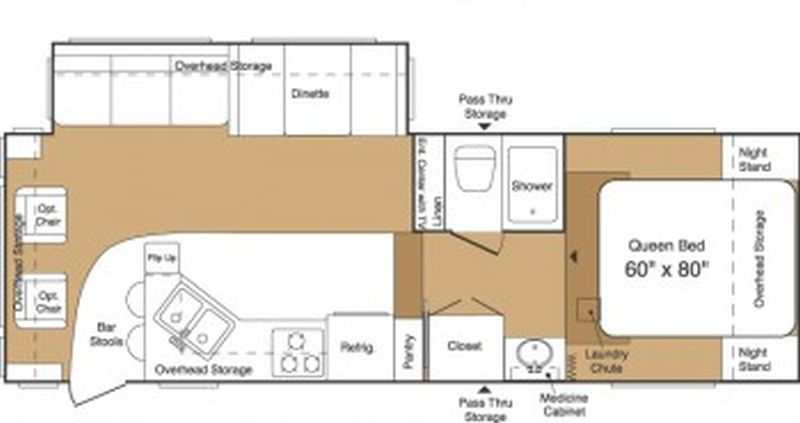 Floorplan for 2003 FOREST RIVER WILDCAT 27RL
