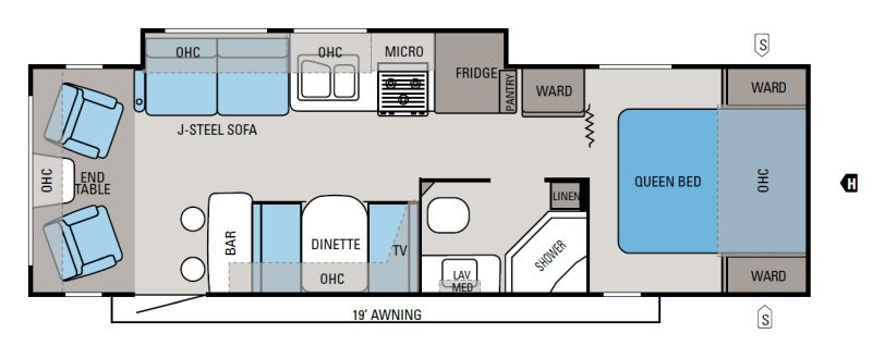 Floorplan for 2012 JAYCO JAY FEATHER SELECT 28U