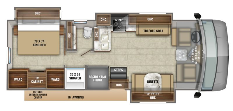 Floorplan for 2020 JAYCO PRECEPT 31UL