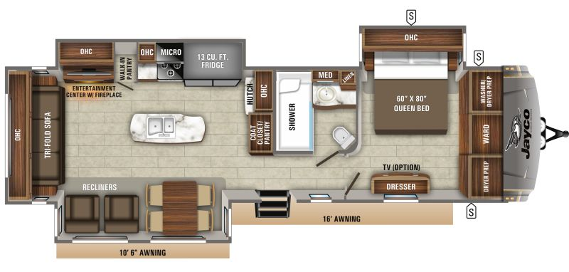 Floorplan for 2020 JAYCO EAGLE 330RSTS