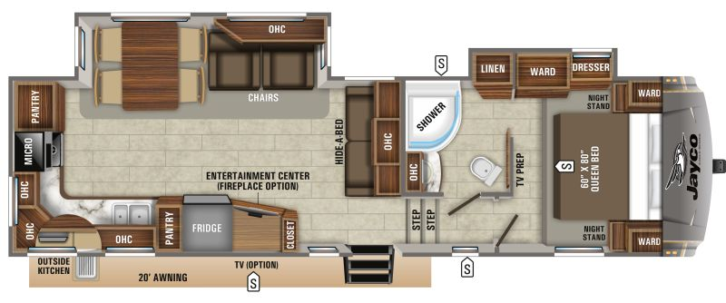 Floorplan for 2020 JAYCO EAGLE HT 30.5MLOK