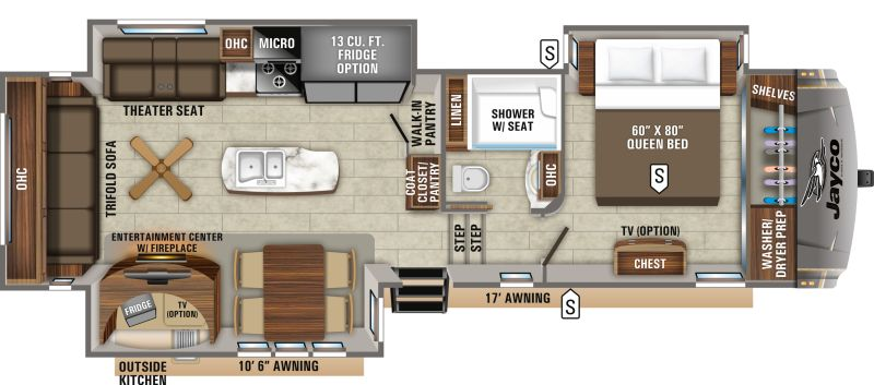 Floorplan for 2020 JAYCO EAGLE 317RLOK