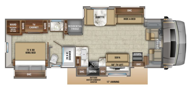 Floorplan for 2020 JAYCO SENECA 37TS