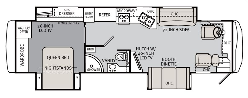 Floorplan for 2011 HOLIDAY RAMBLER NEPTUNE 36PFT