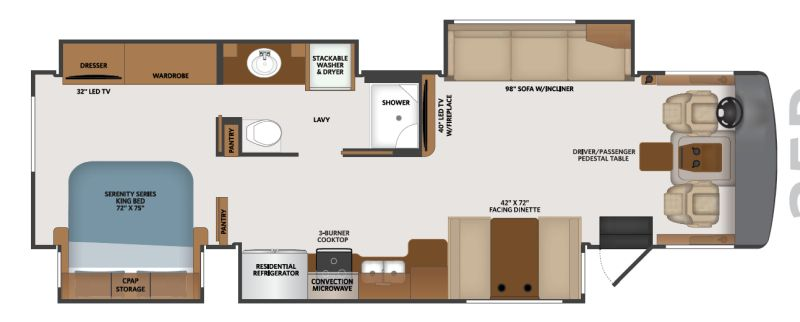 Floorplan for 2020 FLEETWOOD BOUNDER 35P