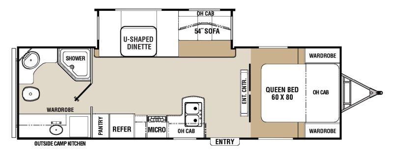 Floorplan for 2011 COACHMEN CHAPARRAL LITE 28RBS