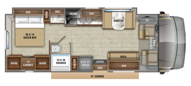 Floorplan for 2020 JAYCO GREYHAWK 30X