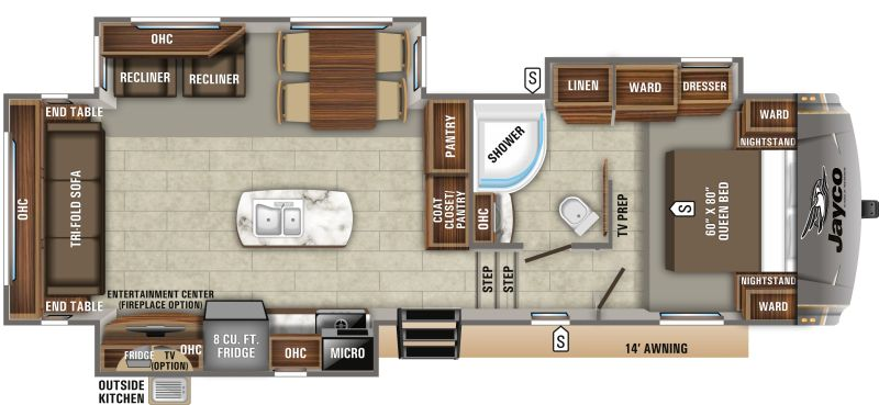 Floorplan for 2020 JAYCO EAGLE HT 28.5RSTS