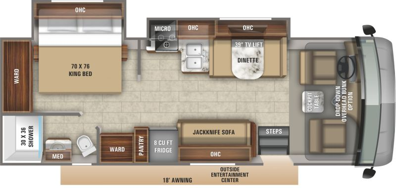 Floorplan for 2020 JAYCO ALANTE 27A