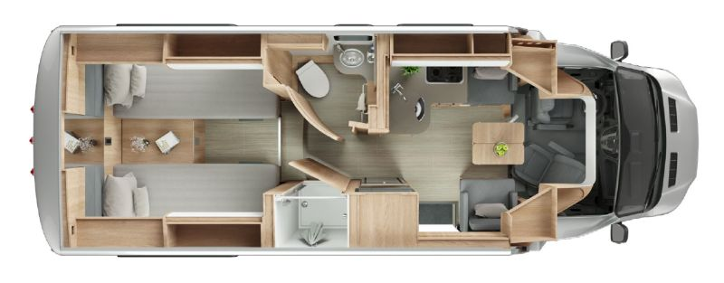 Floorplan for 2020 LEISURE TRAVEL VANS WONDER W24RTB