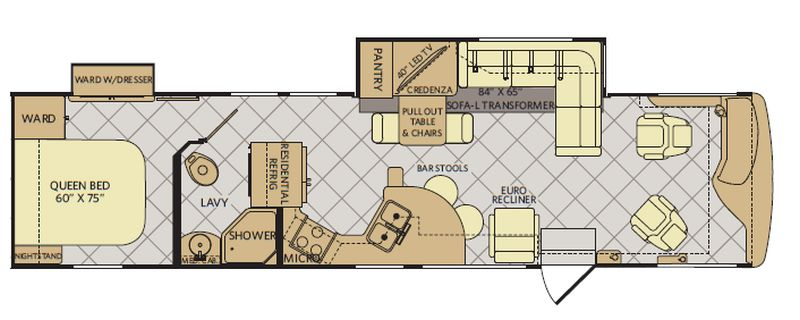 Floorplan for 2015 FLEETWOOD EXCURSION 35B