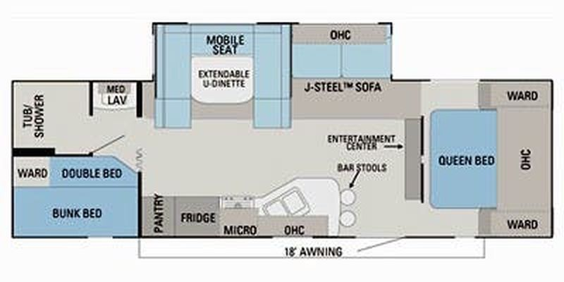 Floorplan for 2011 JAYCO EAGLE 284BHS