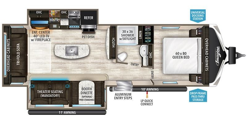 Floorplan for 2020 GRAND DESIGN IMAGINE 2970RL