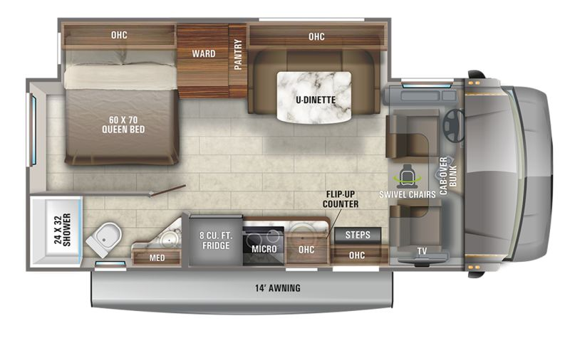 Floorplan for 2021 JAYCO MELBOURNE 24L