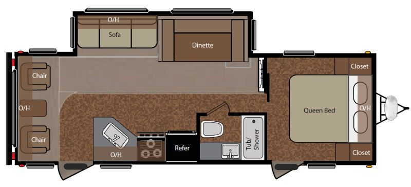 Floorplan for 2011 KEYSTONE SPRINGDALE 266RL