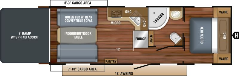 Floorplan for 2018 JAYCO OCTANE SUPER LITE 273