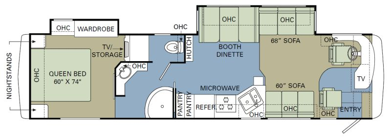 Floorplan for 2008 HOLIDAY RAMBLER NEPTUNE 38PBD