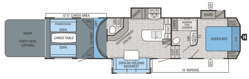 Floorplan for 2016 JAYCO SEISMIC WAVE 355W