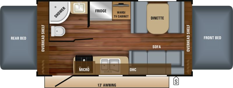 Floorplan for 2018 JAYCO JAY FEATHER X19H