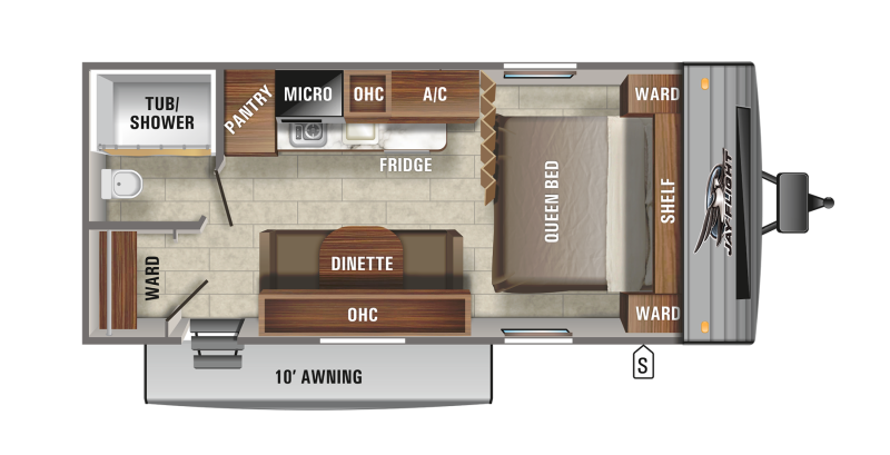 Floorplan for 2021 JAYCO JAY FLIGHT SLX 7 195RB