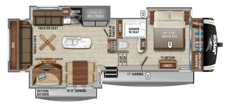 Floorplan for 2021 JAYCO EAGLE 317RLOK
