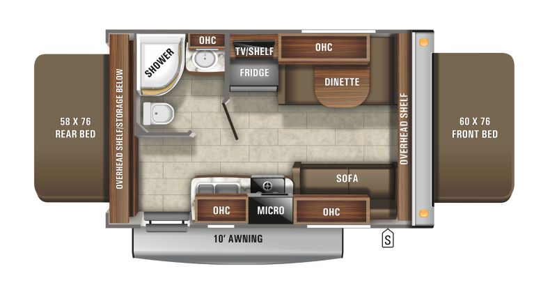 Floorplan for 2021 JAYCO JAY FEATHER X17Z