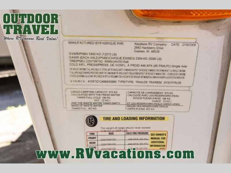 USED 2009 KEYSTONE RV OUTBACK SYDNEY EDITION 321FRL FIFTH