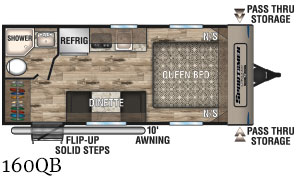 2020 K-Z INC. SPORTSMEN CLASSIC 160QB (couples) Floorplan