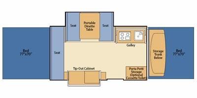 2004 FLEETWOOD FLEETWOOD BAYSIDE (bunks) Floorplan
