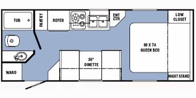 2013 R-VISION CROSSOVER 210QB (couples) Floorplan