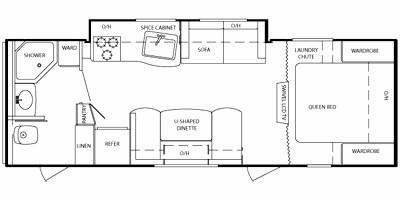 2011 KEYSTONE BULLET 246RBS (couples) Floorplan