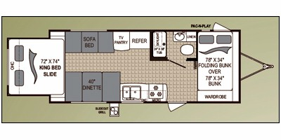 2010 DUTCHMEN AEROLITE 21KS (bunks) Floorplan