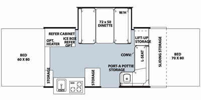 2010 FOREST RIVER FLAGSTAFF 425D (bunks) Floorplan