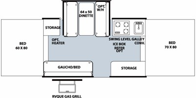 2013 FOREST RIVER ROCKWOOD 2318G (bunks) Floorplan