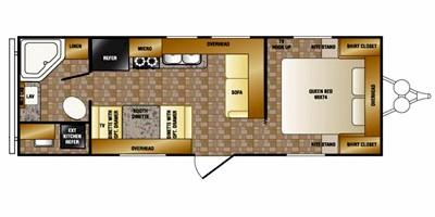2012 CROSSROADS ZINGER 23FB (couples) Floorplan