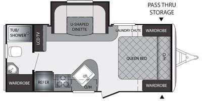 2011 KEYSTONE PREMIER 19FBPR (couples) Floorplan