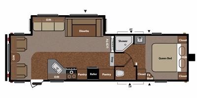 2011 KEYSTONE RV SPRINGDALE 279RLS Floorplan