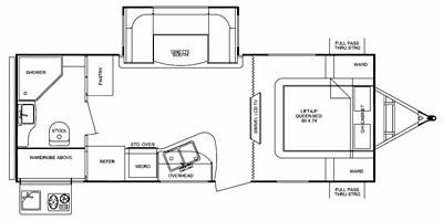2011 CRUISER RV VIEWFINDER 22RBDS (couples) Floorplan