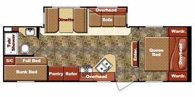 2013 GULFSTREAM KINGSPORT 264BHS (bunks) Floorplan