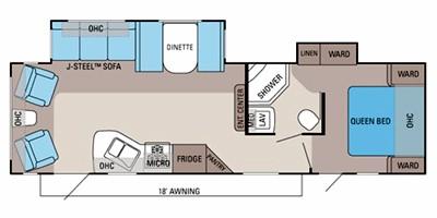 2012 JAYCO JAYFLIGHT 29RLDS (couples) Floorplan