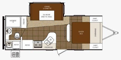 2015 PRIMETIME TRACER EXECUTIVE 230FBS (couples) Floorplan