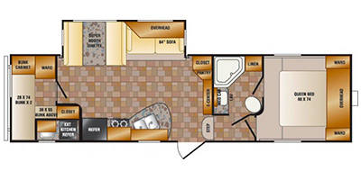2014 CROSSROADS ZINGER 290BH (bunks) Floorplan