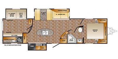 2013 CROSSROADS ZINGER 33BH (bunks) Floorplan