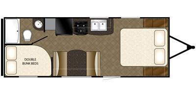 2014 HEARTLAND TRAILRUNNER 22SLE (bunks) Floorplan