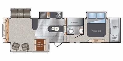 2013 KEYSTONE ALPINE 3500RE (couples) Floorplan